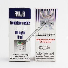 FINAJET (Тренболон ацетат) British Dispensary балон 10 мл (100 мг/1 мл)